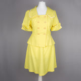 1970s yellow two piece by Penelope Peep