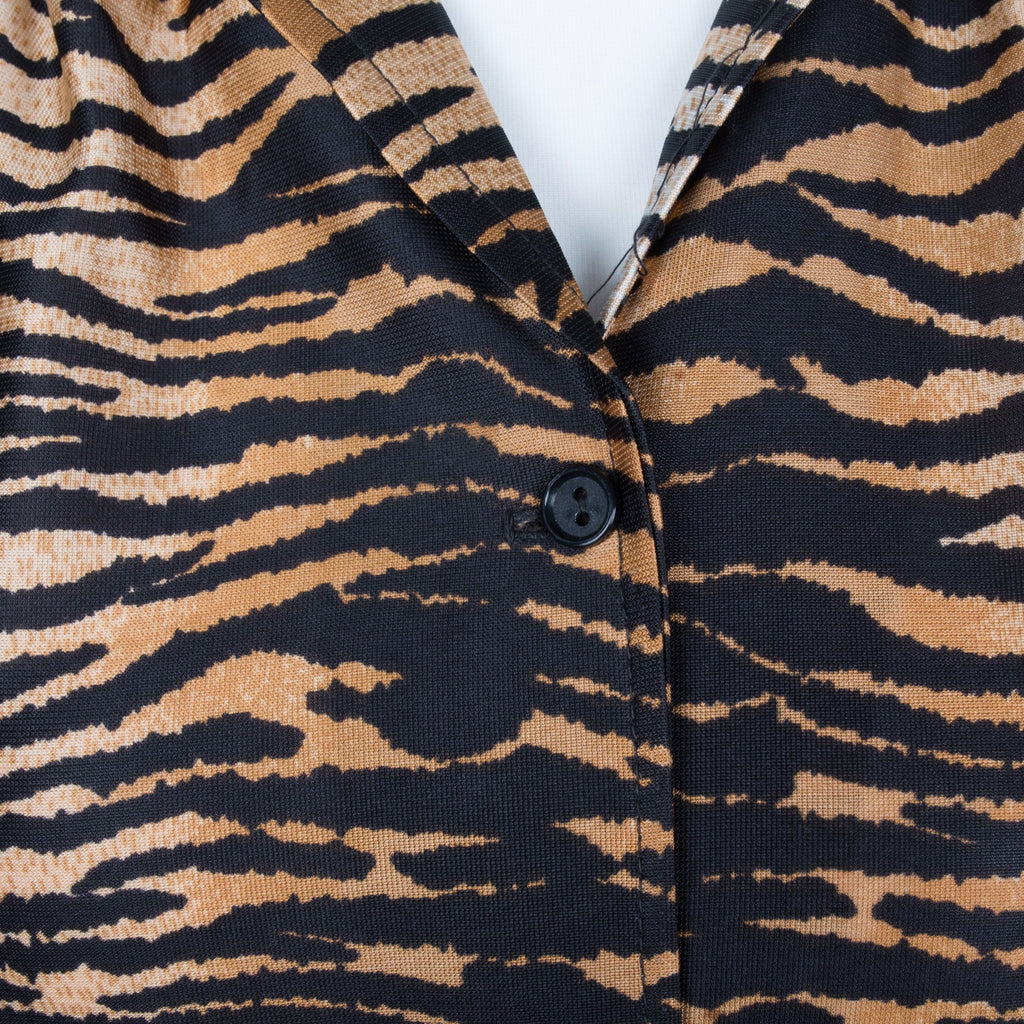 1970s tiger print vintage two piece set