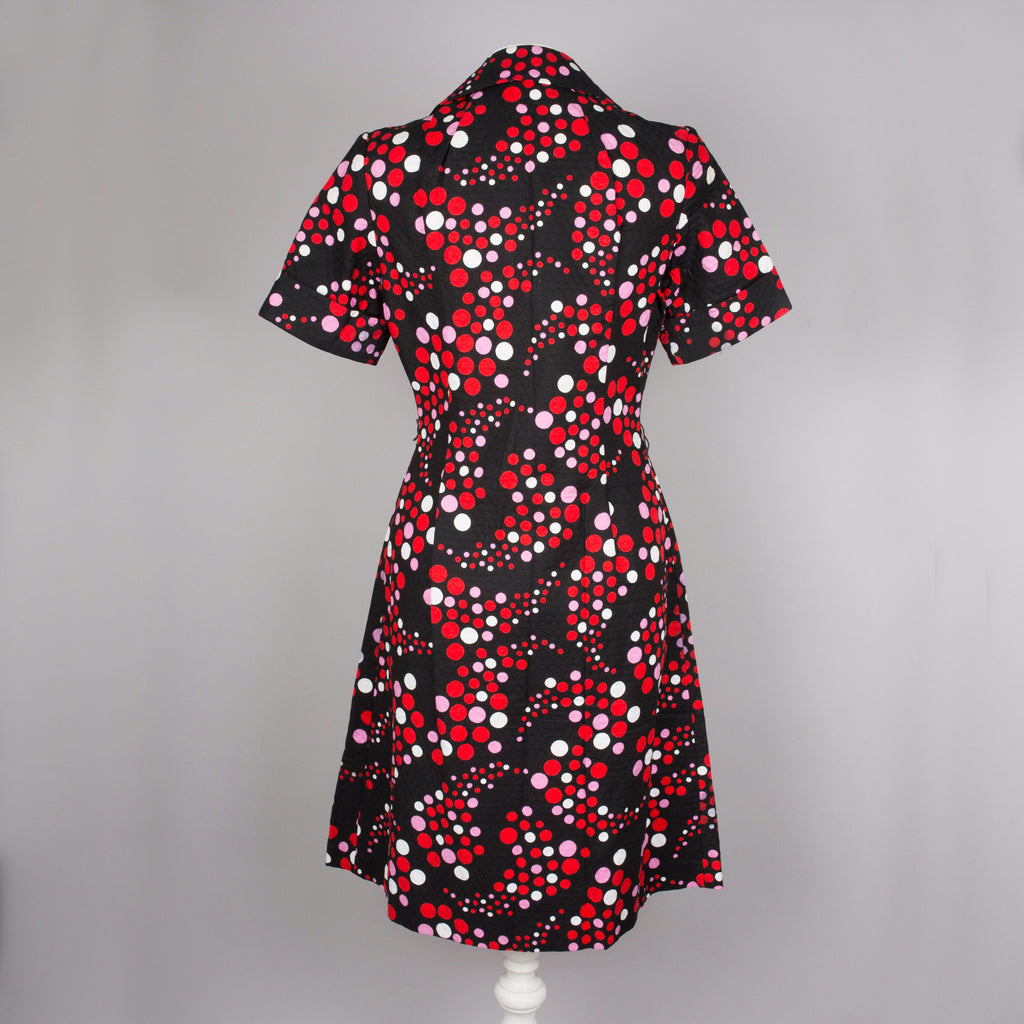 1970s dotty vintage dress by Windsmoor