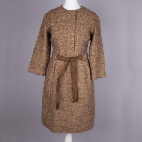 1960s brown boucle vintage dress by Montego Bay
