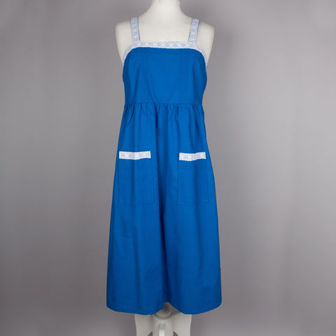 1970s blue vintage sundress by St Michael