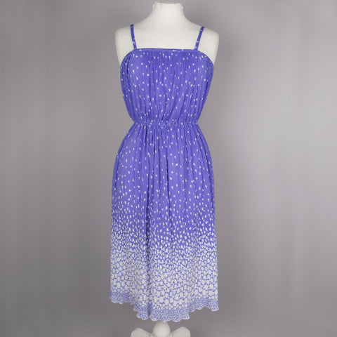 1980s purple ombre pleated vintage dress