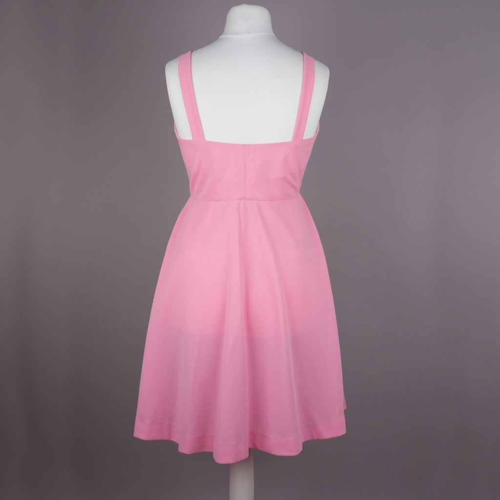 1970s pretty in pink vintage sundress