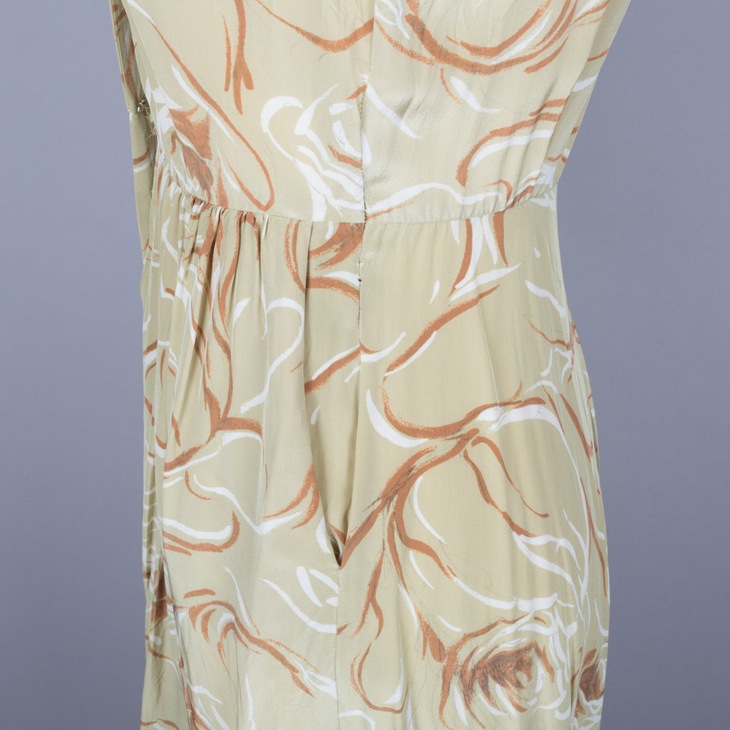 1950s vintage rayon dress by St Michael