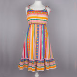 1970s cheerful stripe vintage sun dress