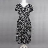 1950s monochrome abstract vintage dress