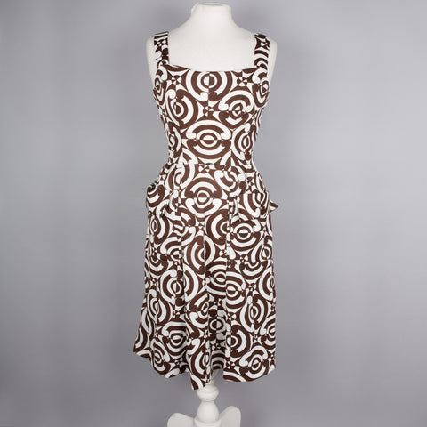 1960s abstract print vintage sundress