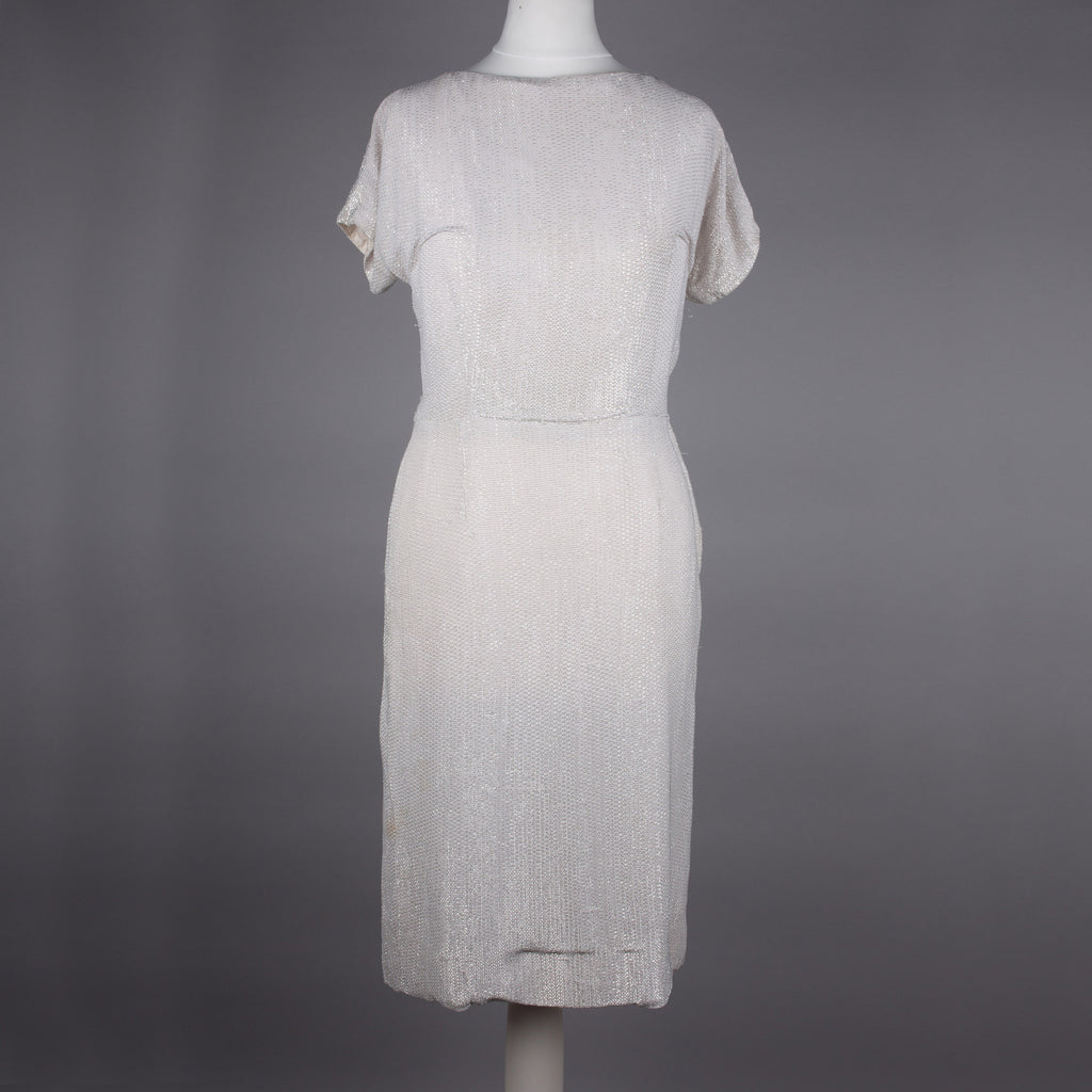 1960s sparkling silver dress by Blanes