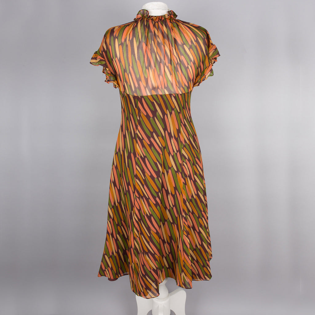 1970s vintage rayon dress by Radley of London