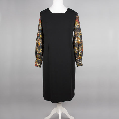 1960s black crepe vintage cocktail dress