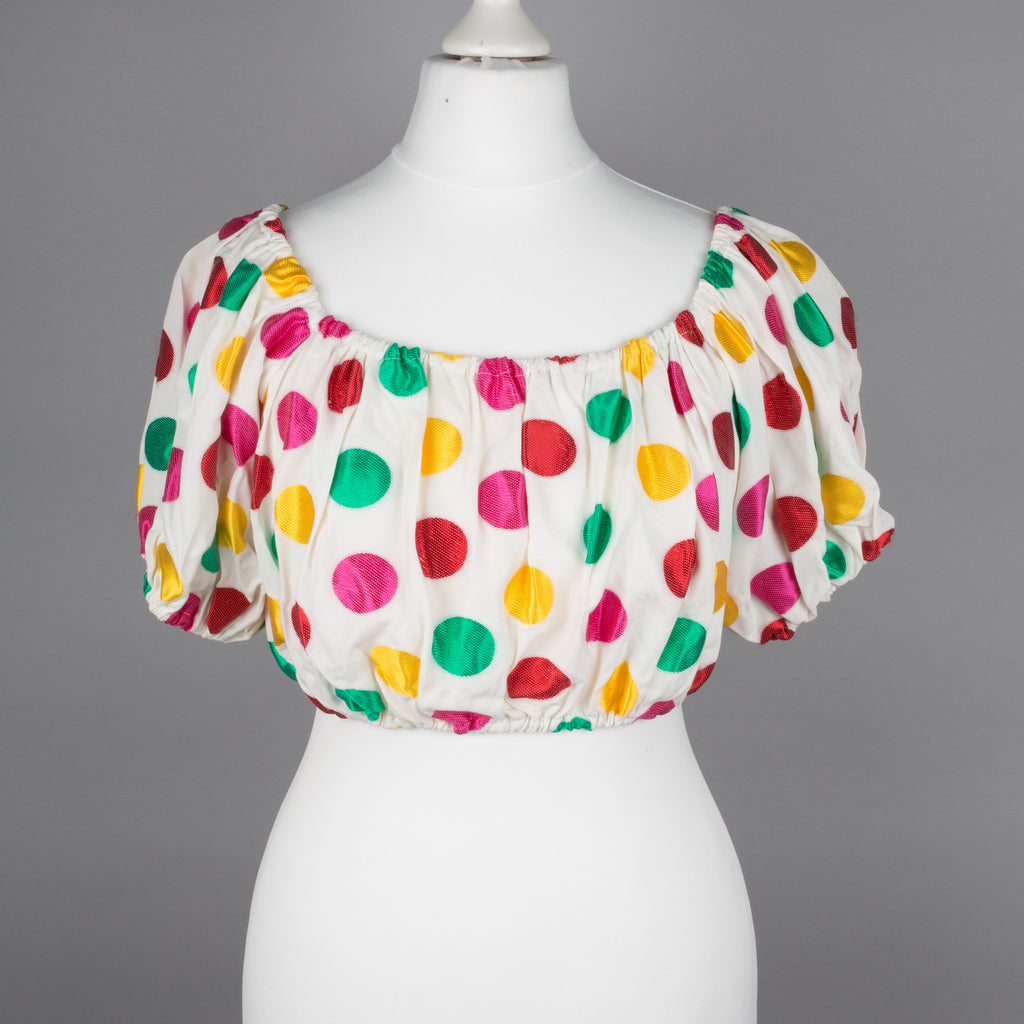 1990s polkadot cropped top by Ronit Zilkha