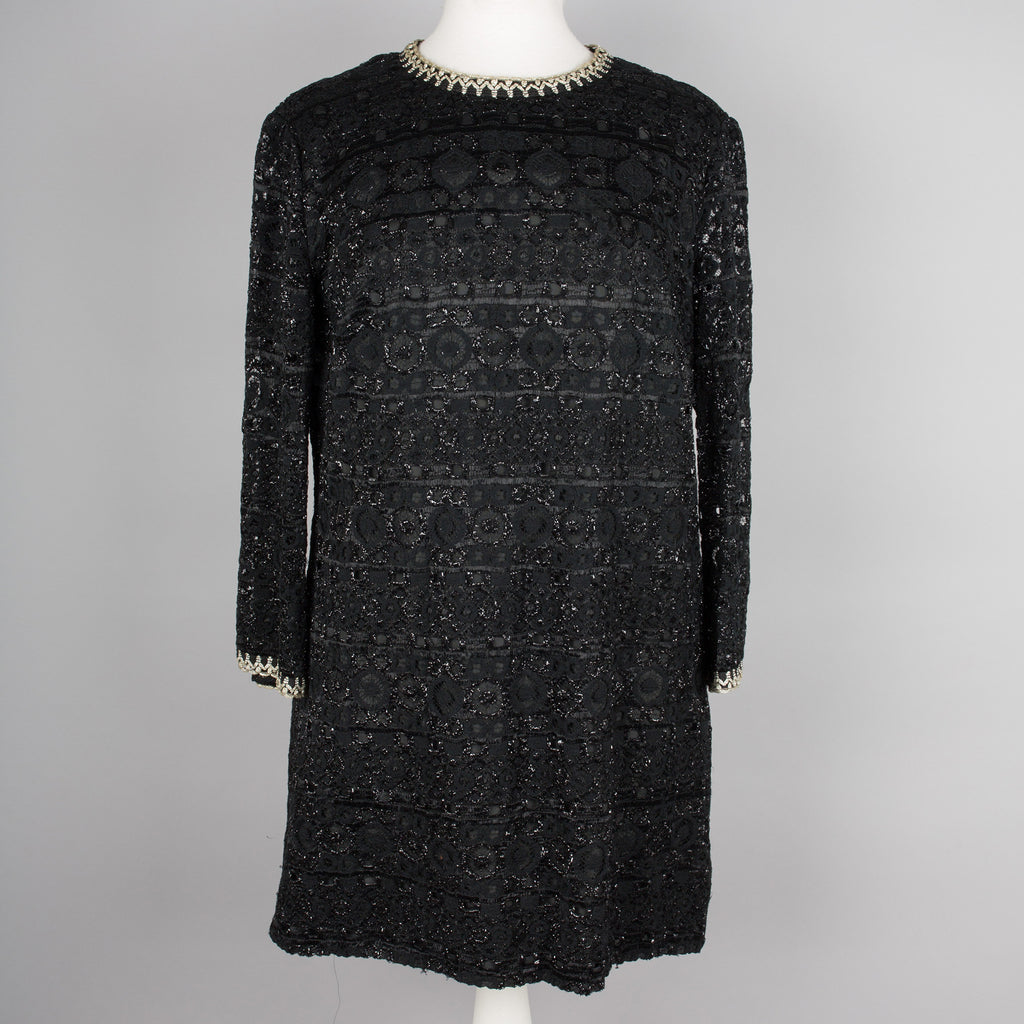 1960s sparkling vintage mini tunic dress