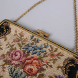 1950s embroidered vintage evening bag