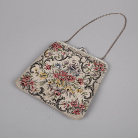 Sparkly 1950s needlepoint vintage purse