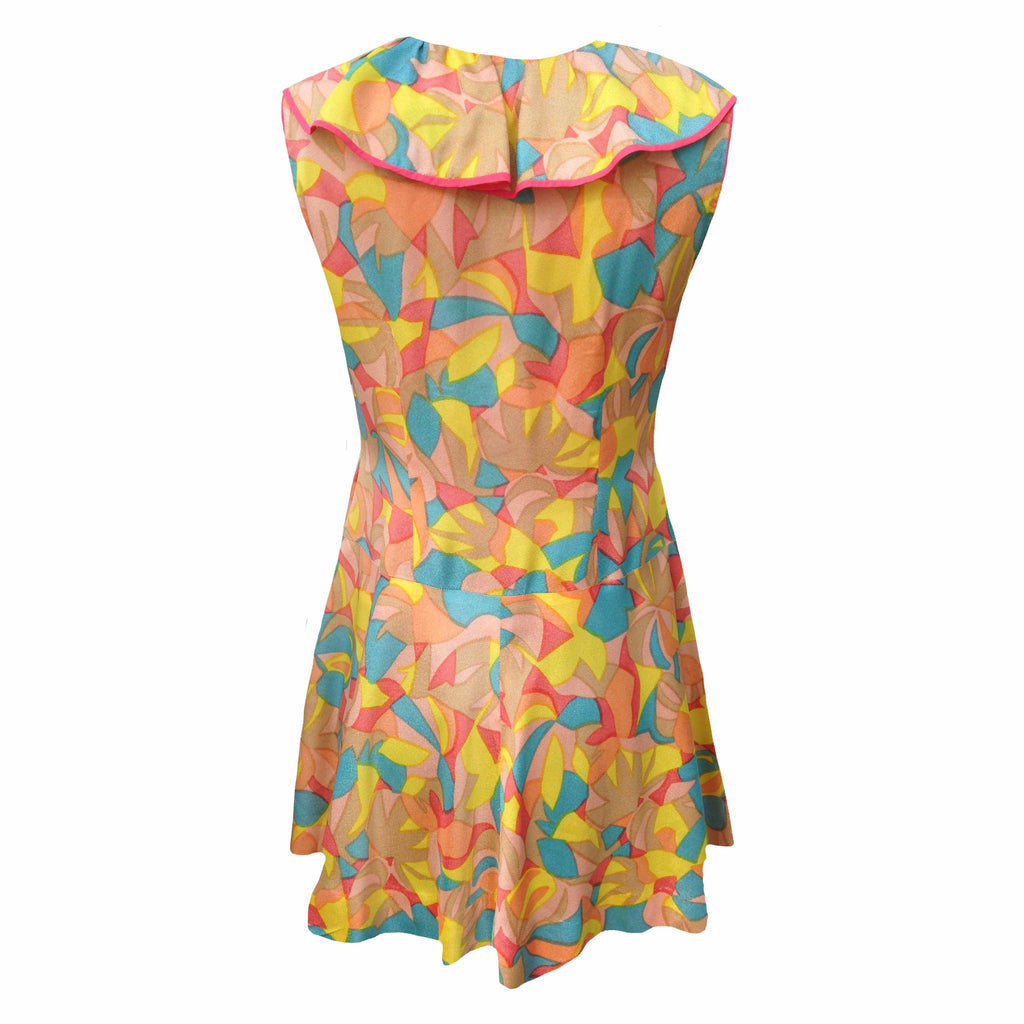 1960s drop waisted vintage ruffle dress