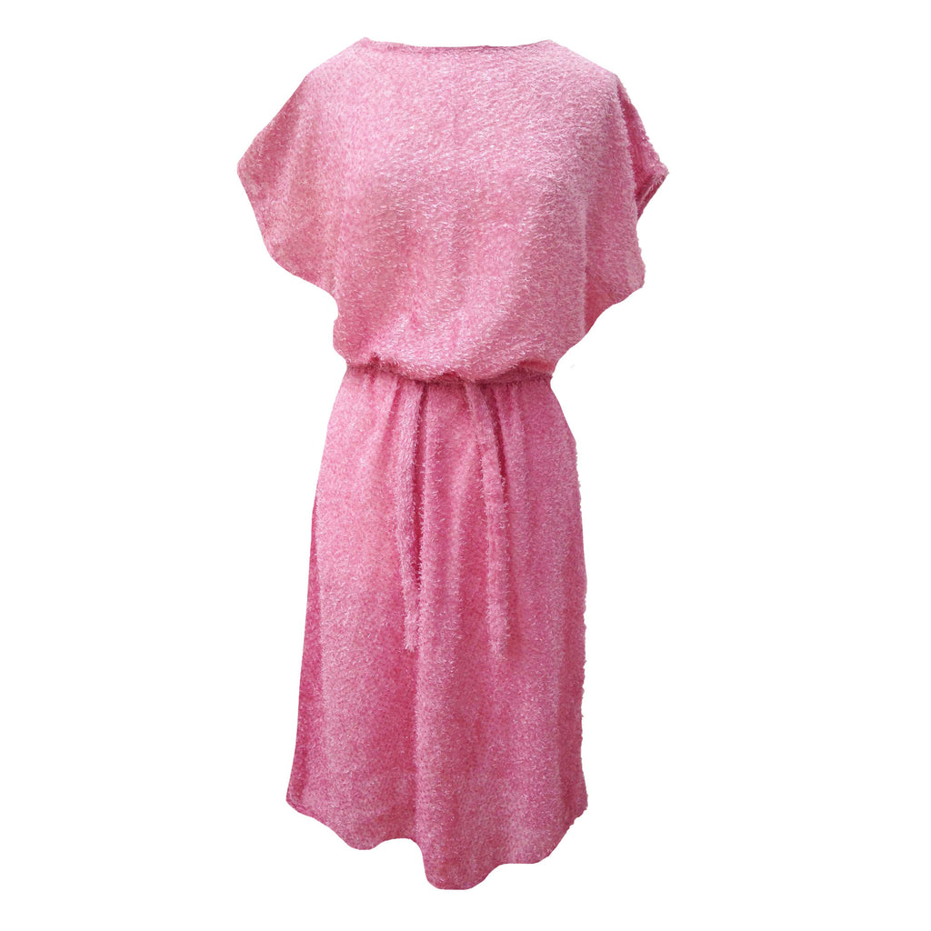1980s pink sparkly easywear dress