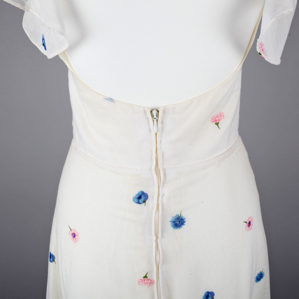 1970s floaty vintage maxi dress