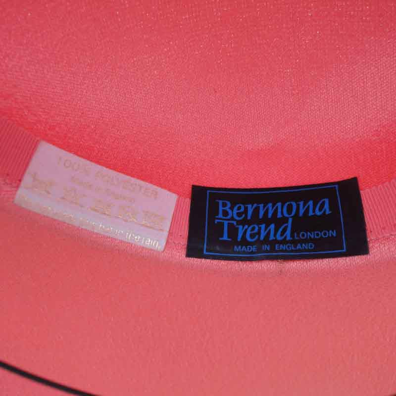 Vintage Bermona Trend London coral hat