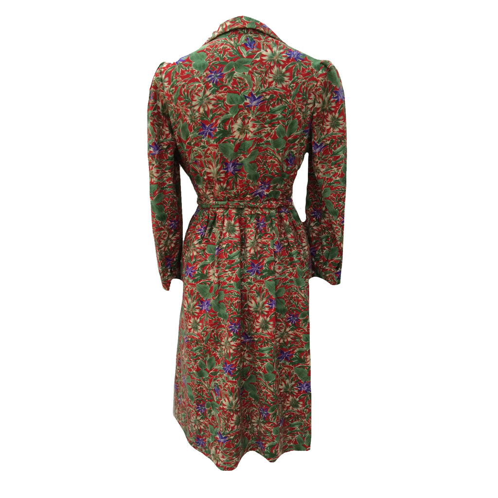 1970s long sleeved vintage day dress