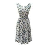 1950s blueberry print vintage dress