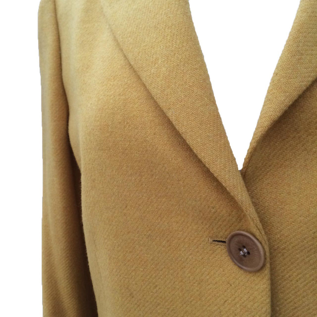 1980s tailored mustard blazer by Burberrys
