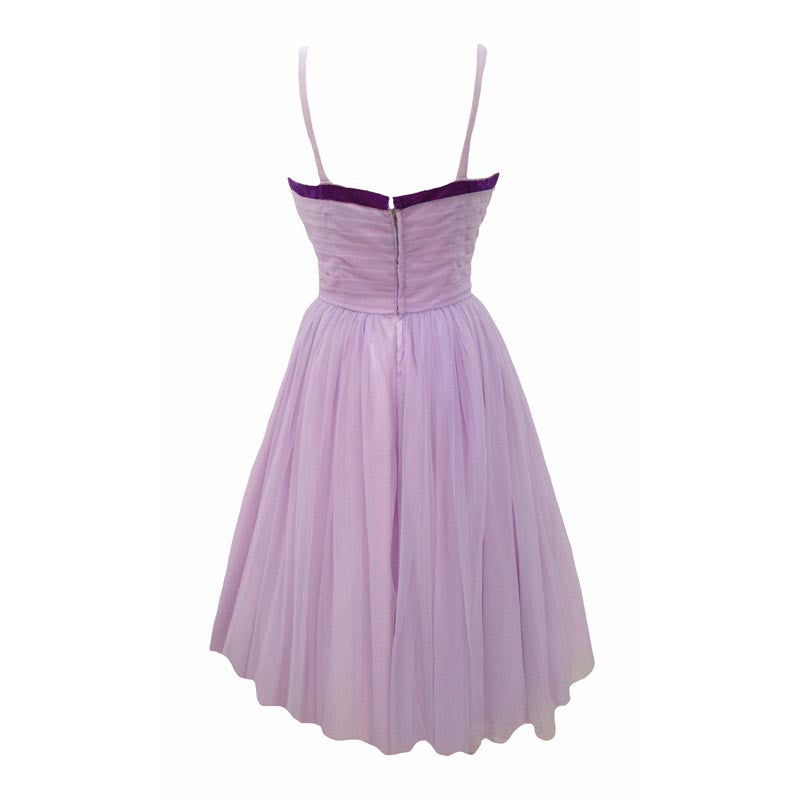 1950s lilac prom dress by California Cottons