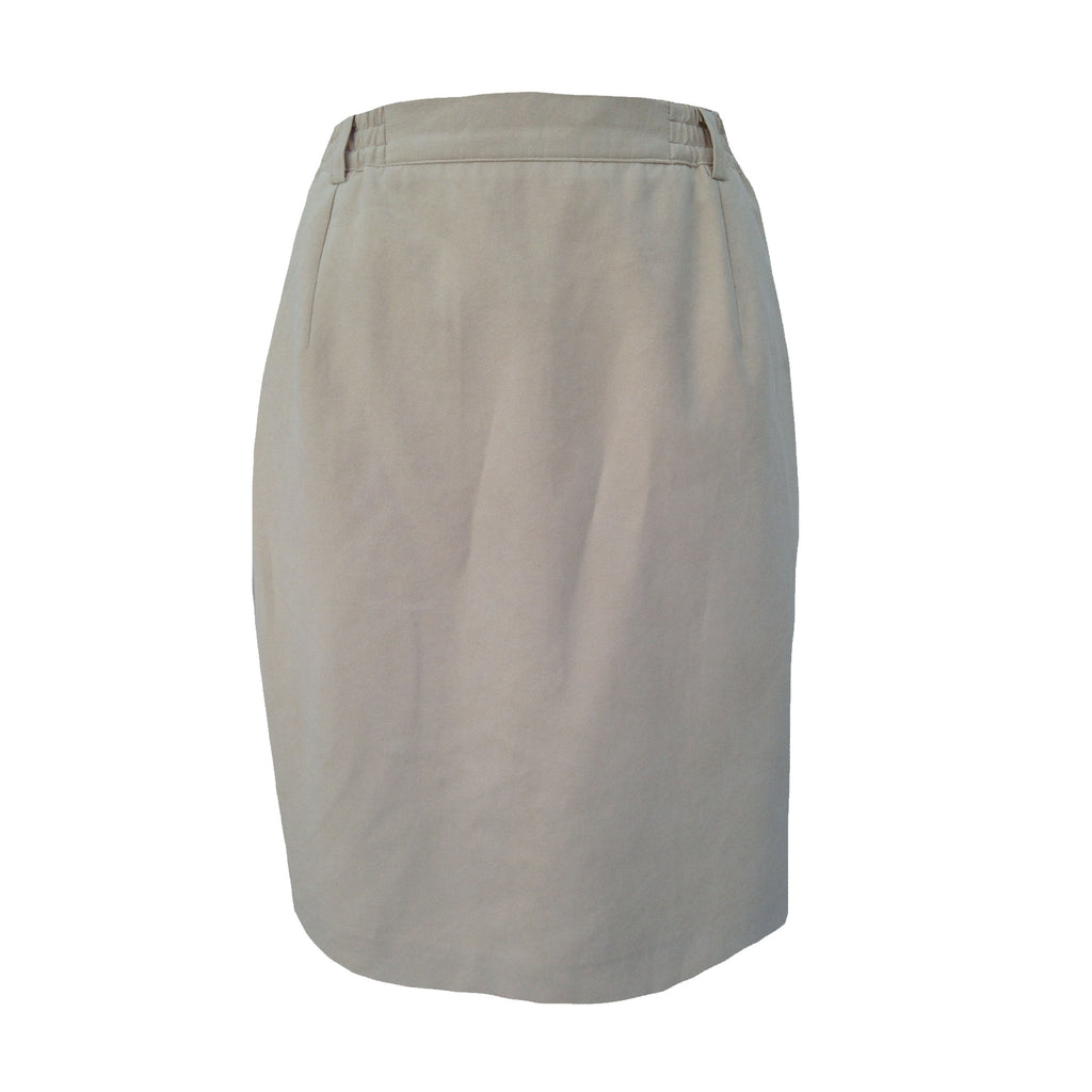1980s cream vintage pencil skirt