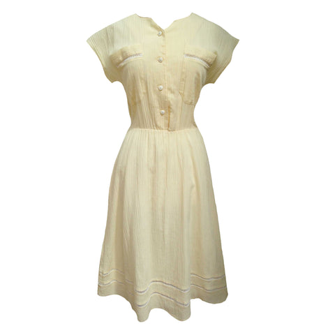 1970s vintage cheesecloth midi dress