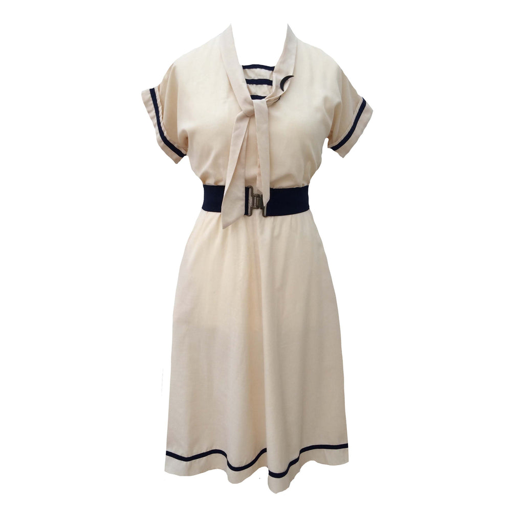 1980s nautical style vintage dress