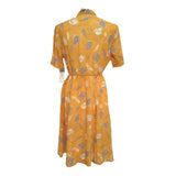 RESERVED - 1980s yellow vintage secretary dress