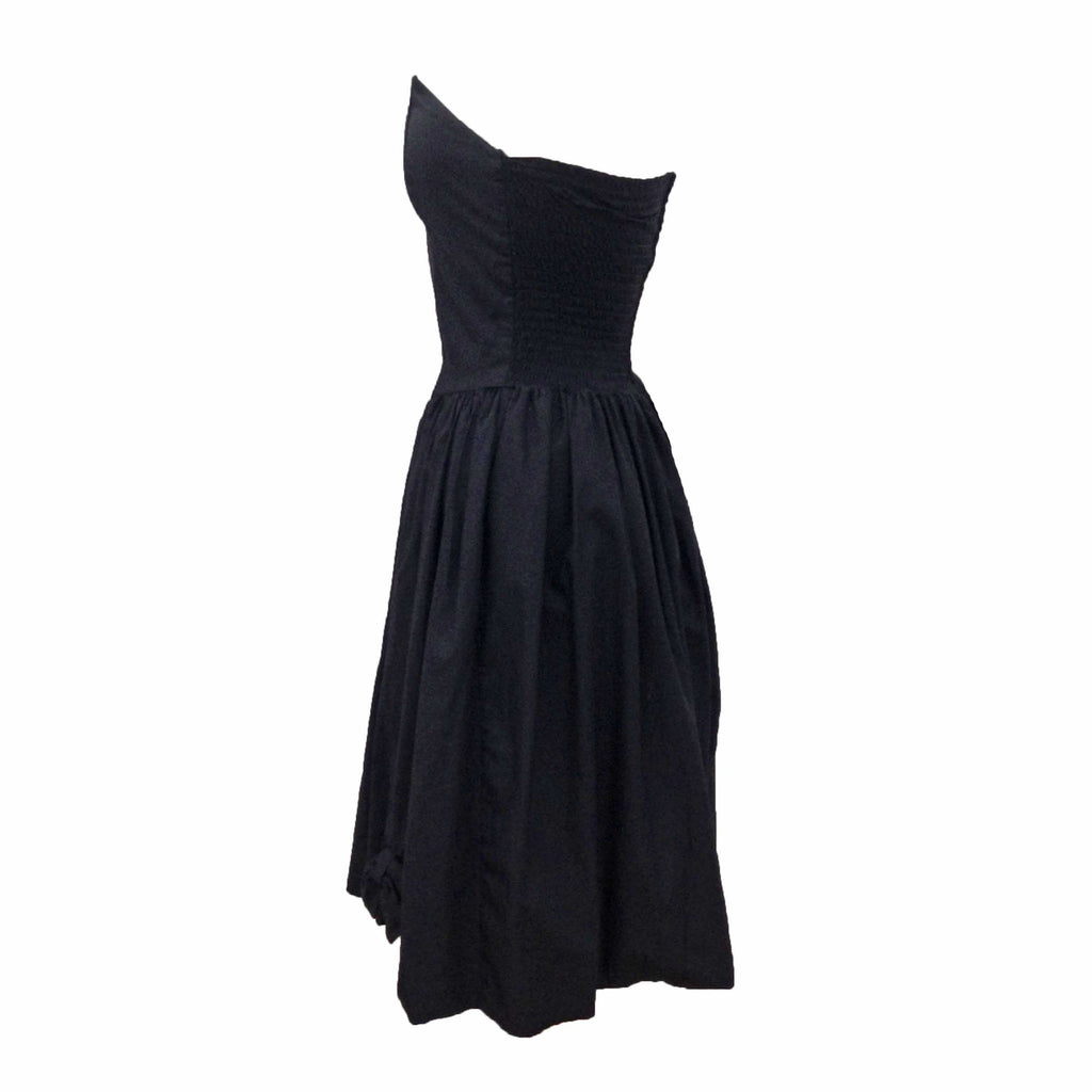 1980s black strapless vintage party dress
