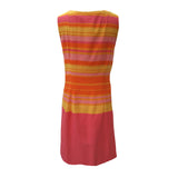 1960s citrus striped vintage shift dress