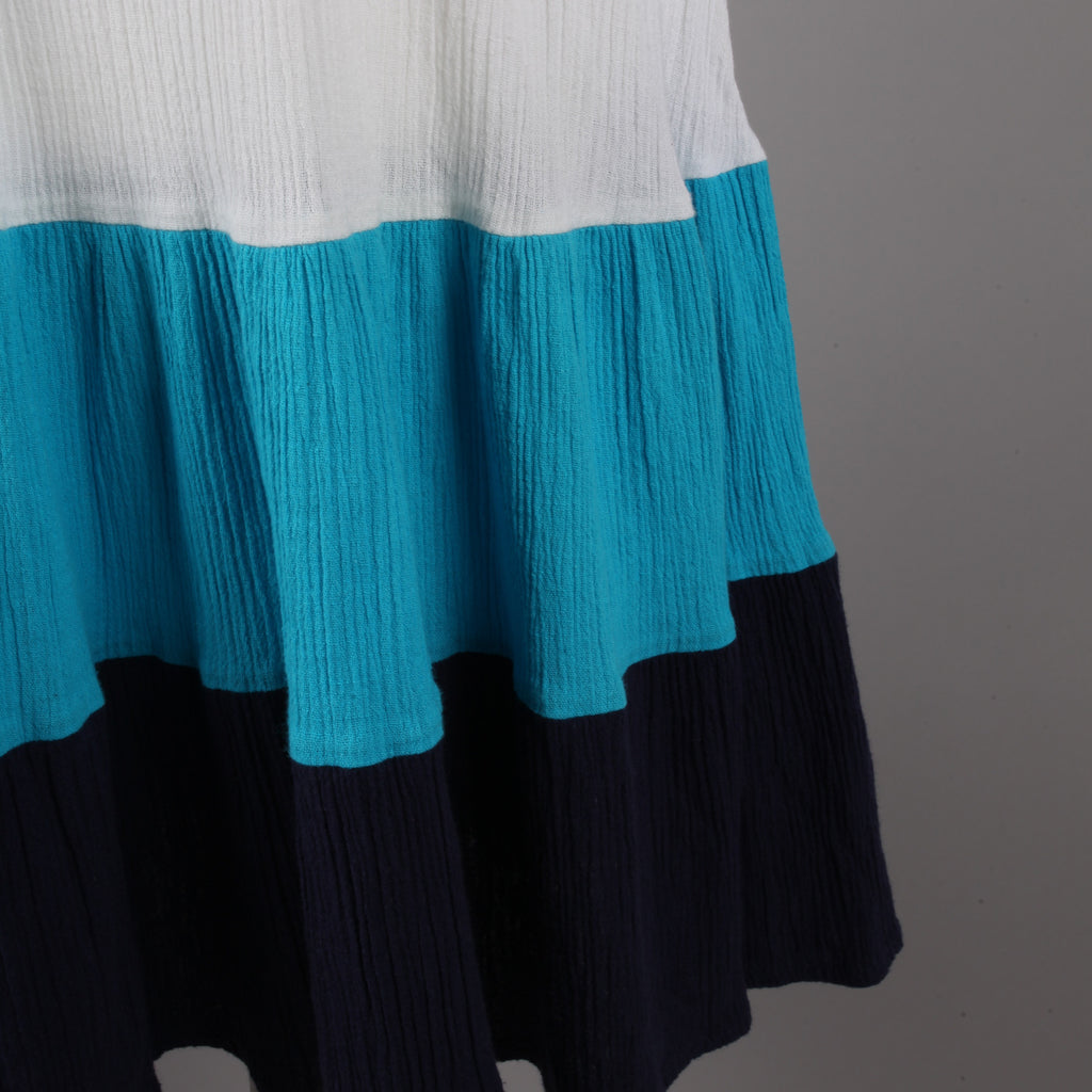 1980s crinkle cotton vintage sundress