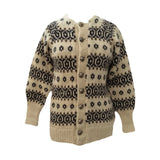 Chunky knit wool Nordic jacket