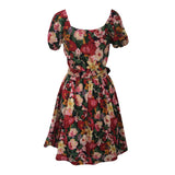 1980s rose garden vintage party dress