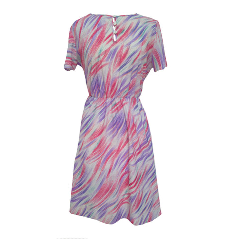 1980s swirl print dress by St Michael