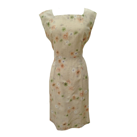 1950s starburst design vintage cocktail dress