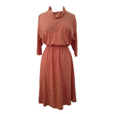1980s suede effect vintage midi dress