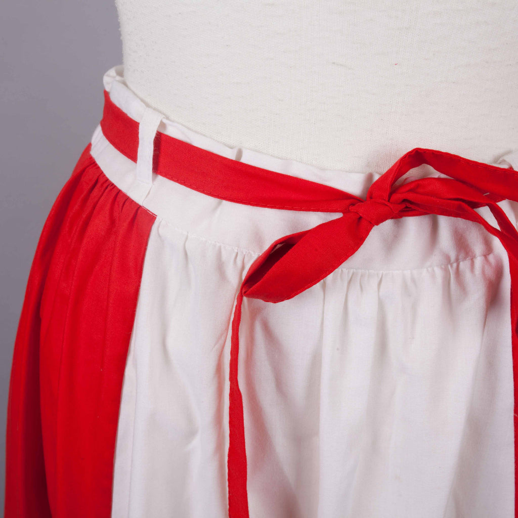 1980s red and white vintage skirt