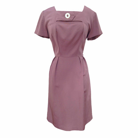 1950s dusky pink vintage cocktail dress