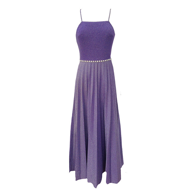 1970s lavender vintage gown by Lucie Linden