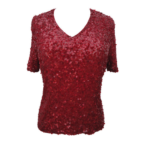 Red sequin vintage Vera Mont top
