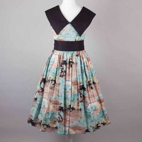1980s does 50s vintage swing dress