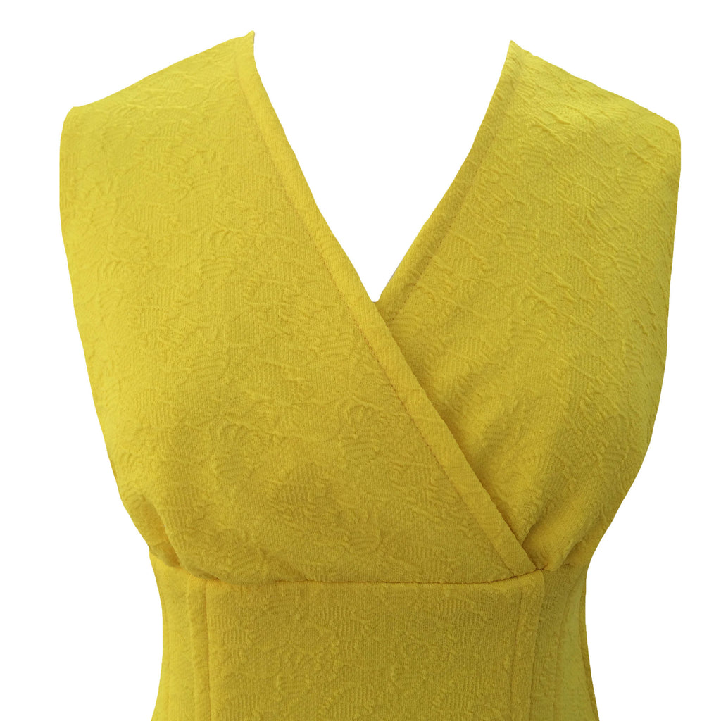 1970s canary yellow vintage dress