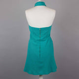 1970s jade halter neck vintage dress