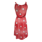 1980s graphic print red vintage dress