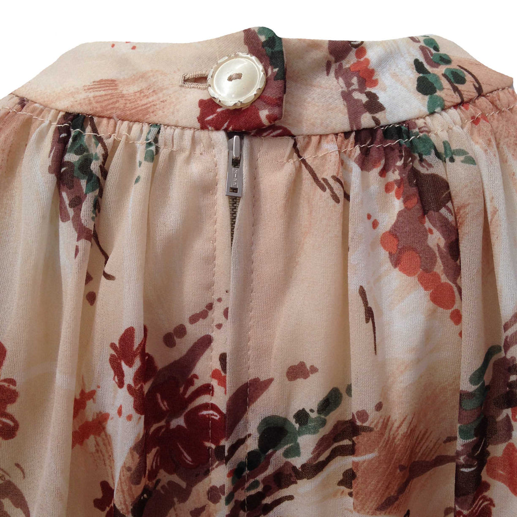 1960s brush stroke vintage tent dress