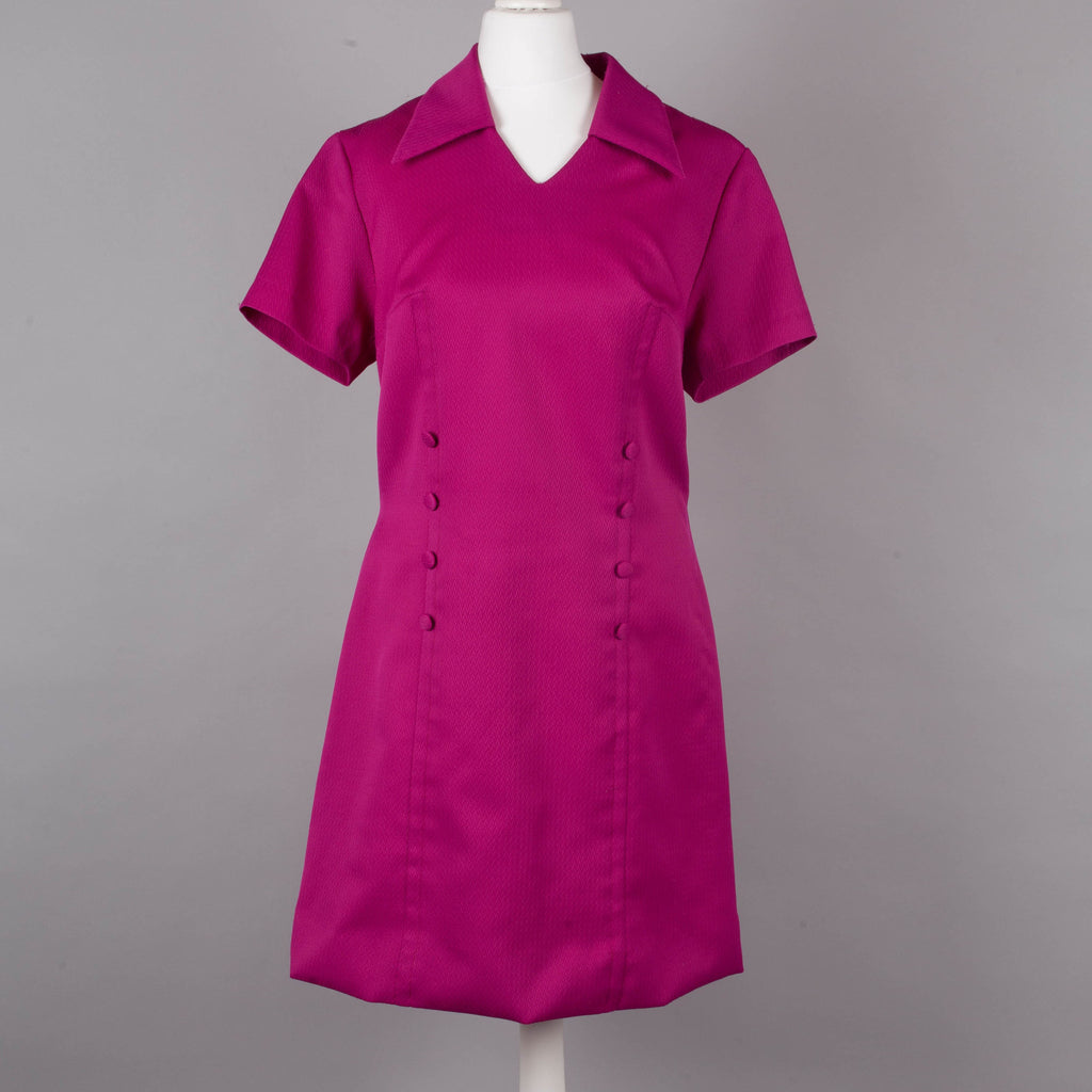 1960s deep pink vintage shift dress