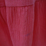 1970s salmon pink cheesecloth sun dress