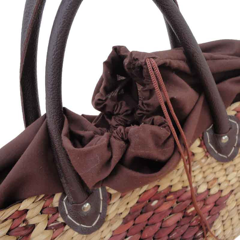 Lovely wide straw vintage day bag